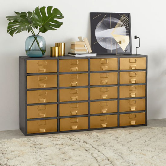 Buffet vintage finitions laiton