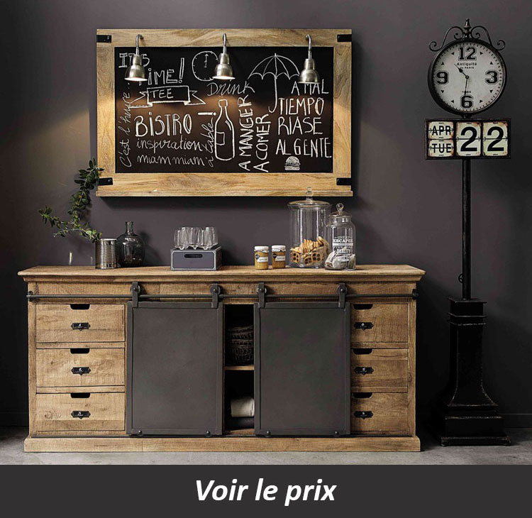 buffet industriel maison du monde good des salles manger trs dco deco with buffet industriel. Black Bedroom Furniture Sets. Home Design Ideas