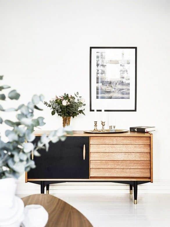 buffet noir et bois great buffet industriel noir et bois. Black Bedroom Furniture Sets. Home Design Ideas