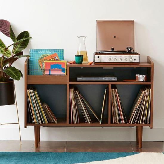 Buffet pour vinyles
