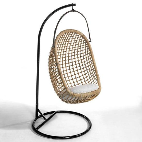 fauteuil suspendu en rotin