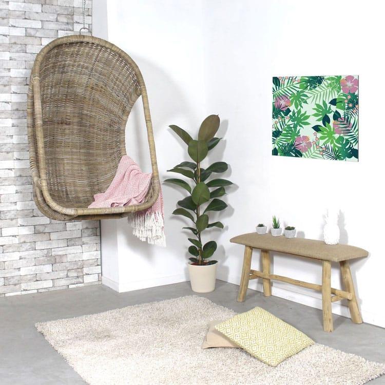 fauteuil suspendu en rotin quel mod le pour se d tendre la maison. Black Bedroom Furniture Sets. Home Design Ideas