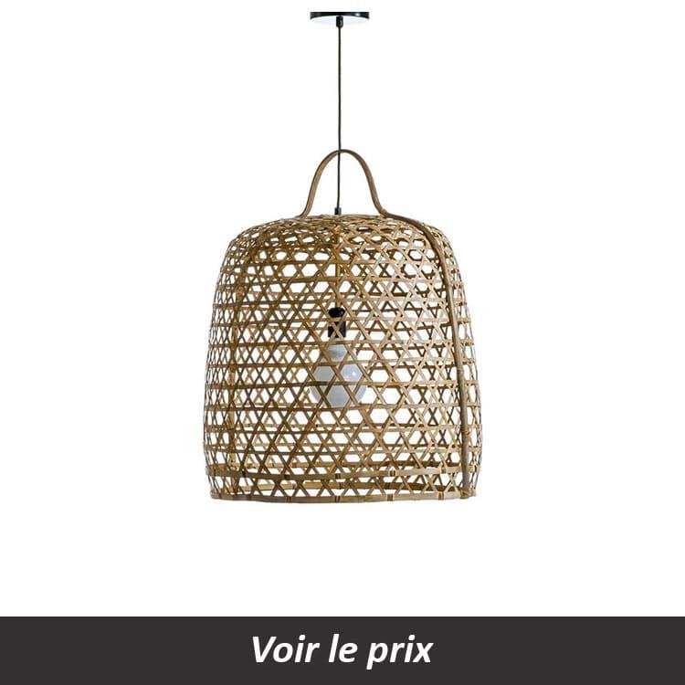 luminaire grand diamètre bambou