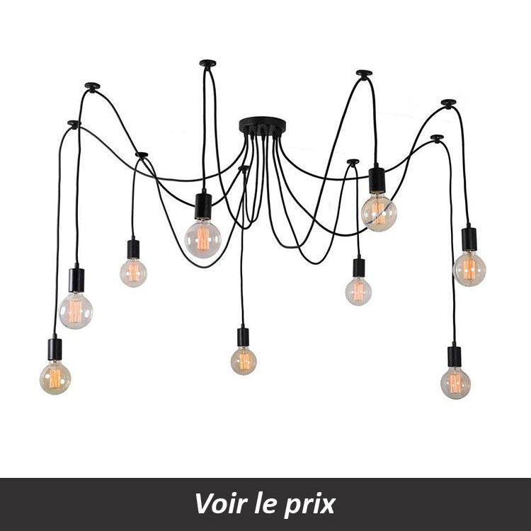 Suspension grand diametre ampoule