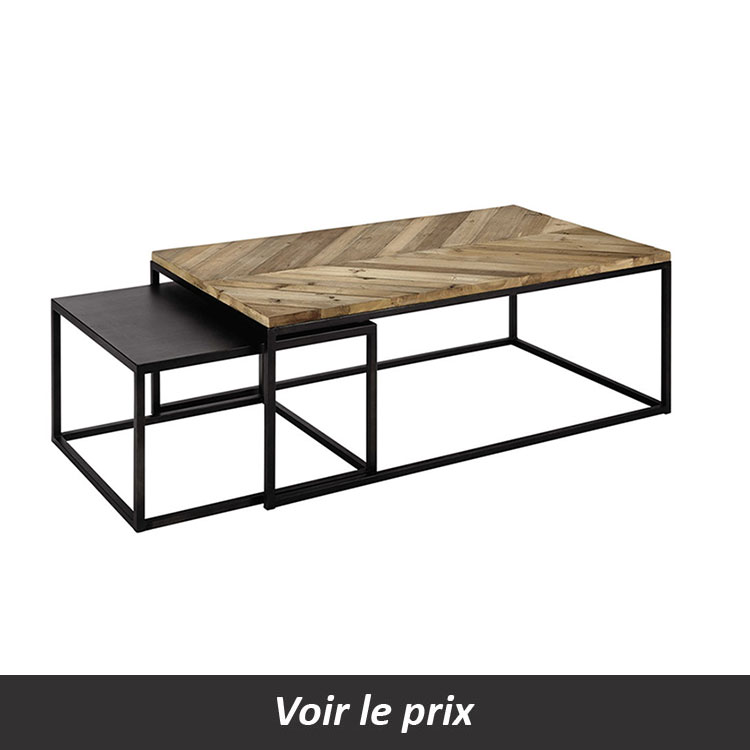 coup de cur pour la table gigogne chevron with maison du monde table basse gigogne. Black Bedroom Furniture Sets. Home Design Ideas