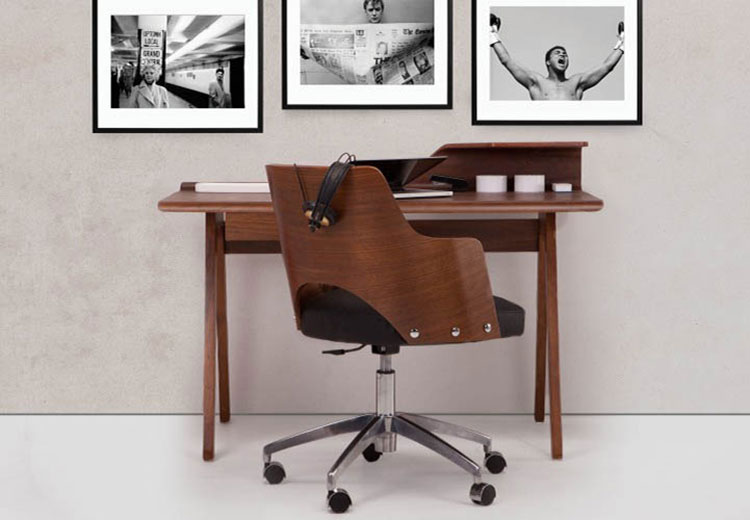 Bureau vintage noyer