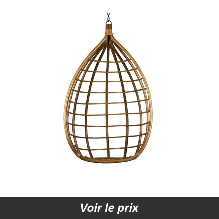 Fauteuil suspendu rotin design