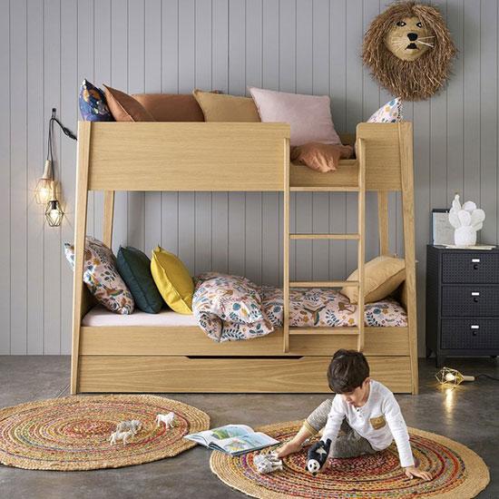 Lit superposé enfant avec tiroir de lit