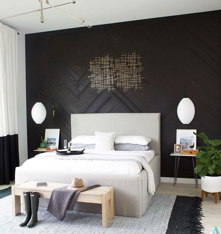 un mur en bois chez soi pour cr er une ambiance singuli re. Black Bedroom Furniture Sets. Home Design Ideas