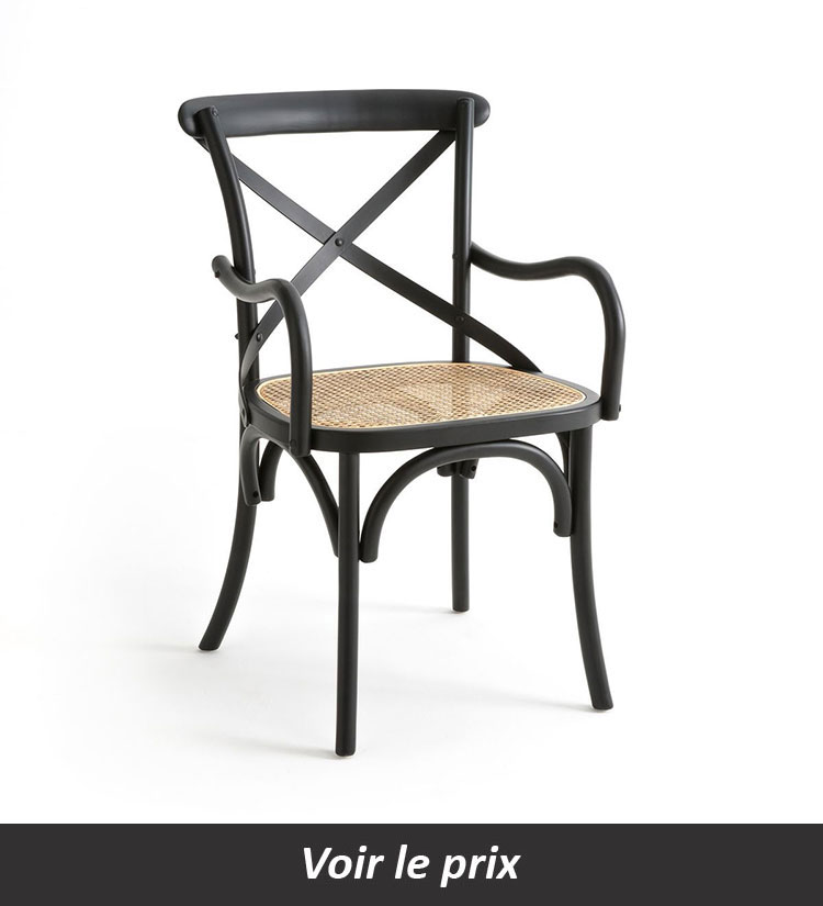 Chaise bistrot accoudoirs