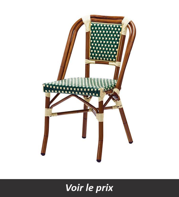 Chaise bistrot en rotin