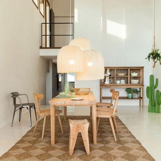 Chaise design bois brut