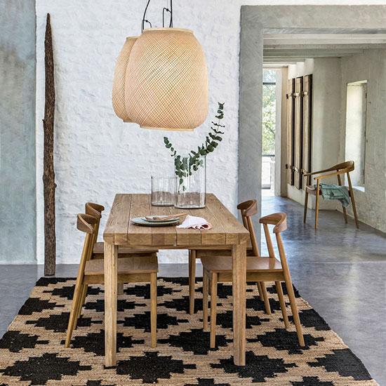 Chaise design bois massif
