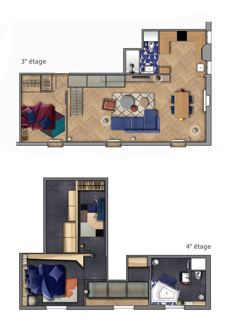 plan rénovation duplex