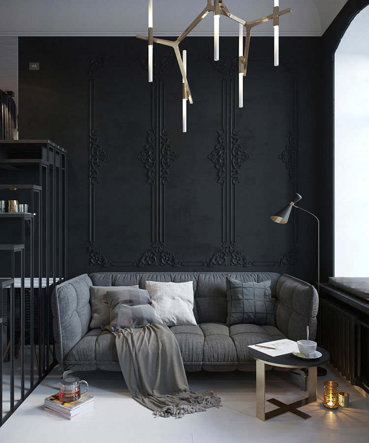 d co osez le noir sur vos murs pour une note choc et. Black Bedroom Furniture Sets. Home Design Ideas