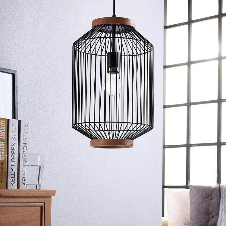 Lampe cage suspension