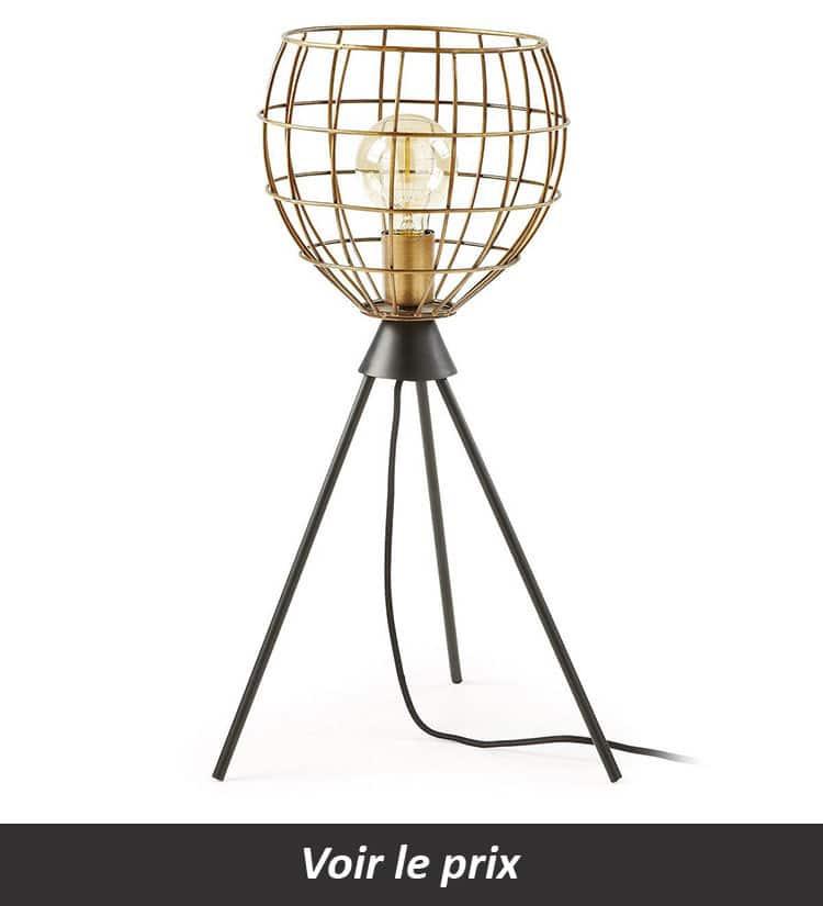 Lampe cage avec trépied