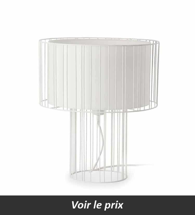 Lampe cage blanc