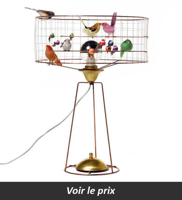 Lampe cage oiseau Mathieu Challières