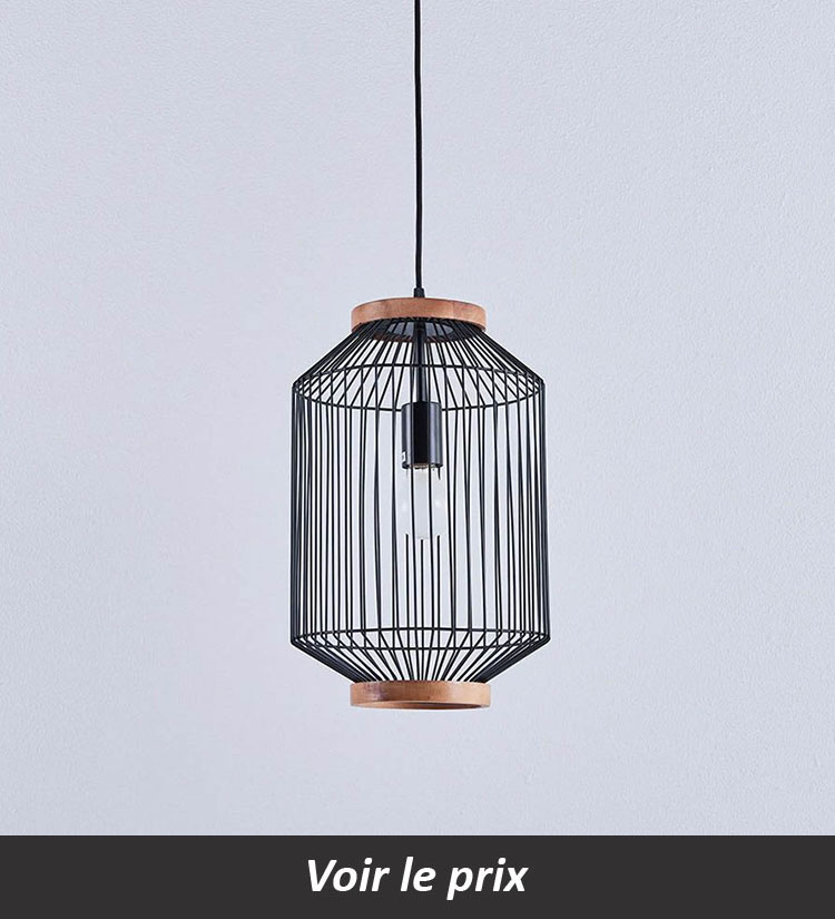 Lampe cage en suspension