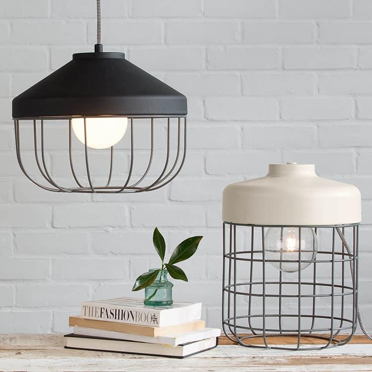 Lampe cage baladeuse