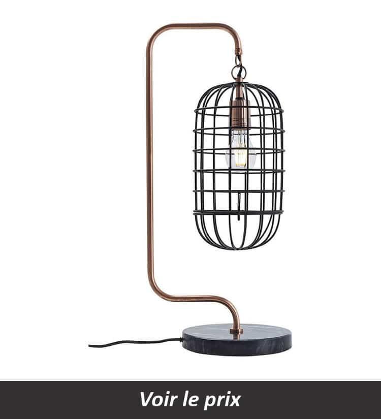 Lampe cage en laiton