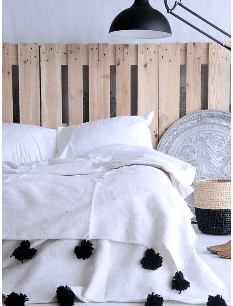 tete de lit avec palette en bois