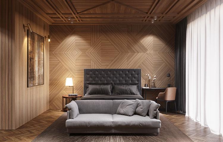 mur en bois sculpté
