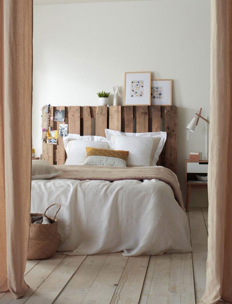 tete de lit palette de bois