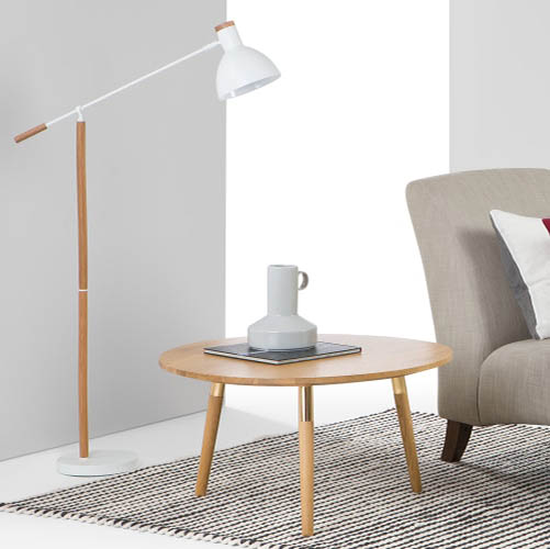 Table basse scandinave en laiton