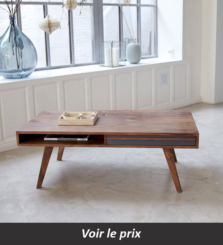 Table basse scandinave avec rangement