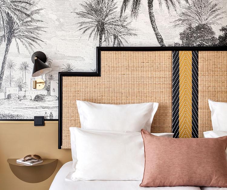 t te de lit en rotin 12 mod les pour la chambre parentale. Black Bedroom Furniture Sets. Home Design Ideas