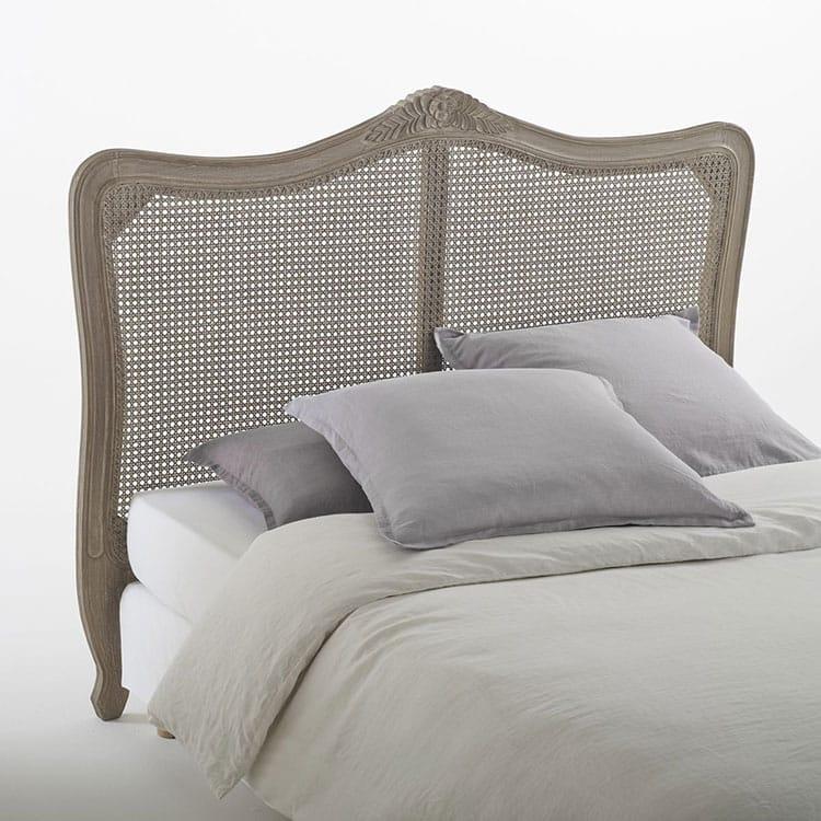 Tête de lit rotin en bois sculpté