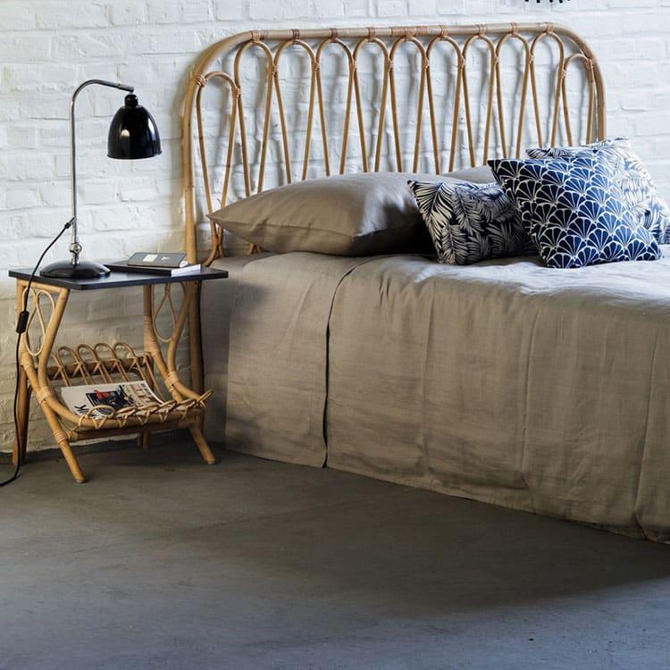 Tête de lit en rotin style bohème