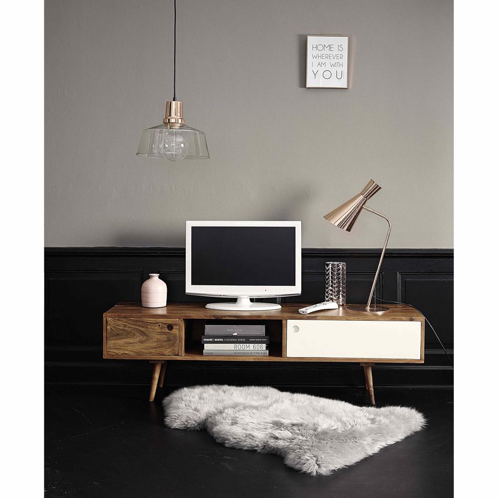 meuble tv scandinave quel mod le pour un salon au charme r tro. Black Bedroom Furniture Sets. Home Design Ideas