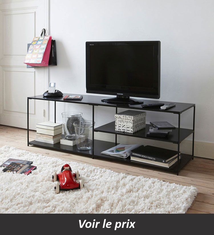 quel meuble tv industriel choisir pour un salon aux airs d 39 atelier. Black Bedroom Furniture Sets. Home Design Ideas
