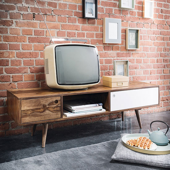 Meuble tv scandinave bois