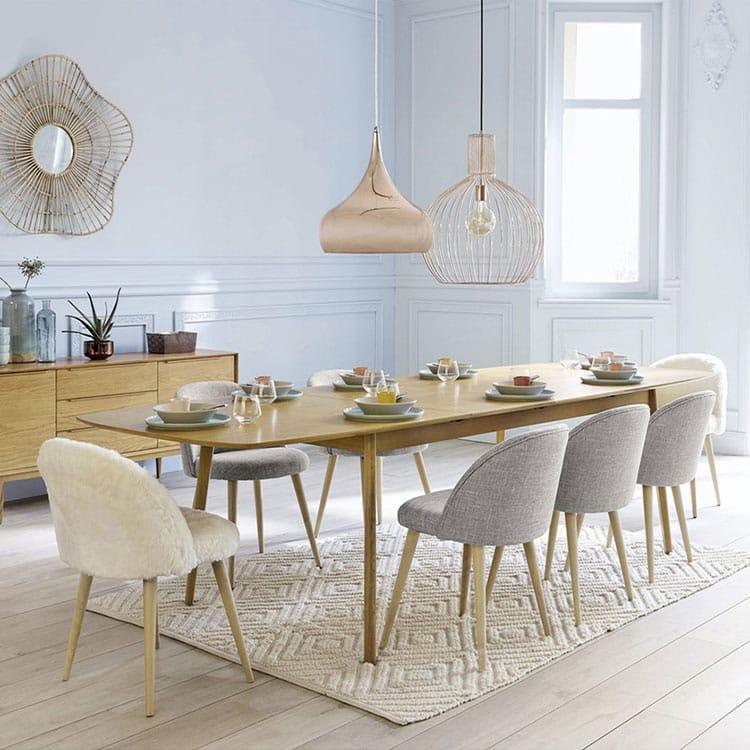 Table salle a manger extensible en chêne