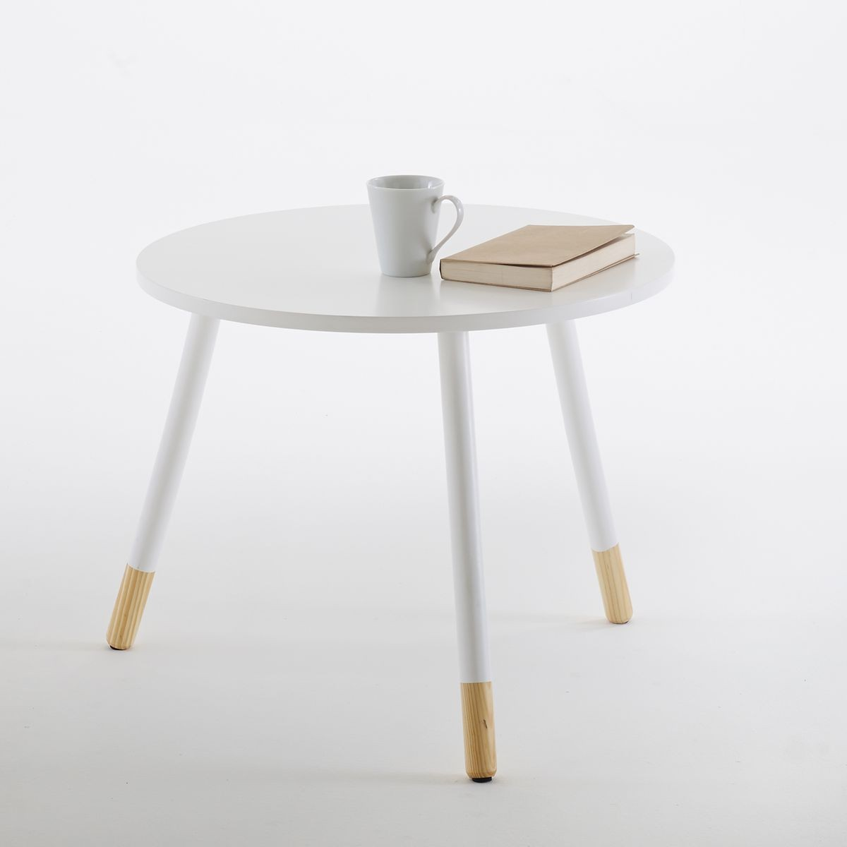 petite table basse ronde blanche