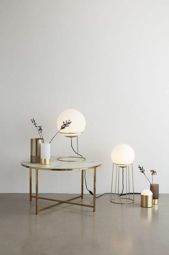 Table basse ronde design