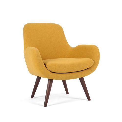 Fauteuil vintage jaune Moby