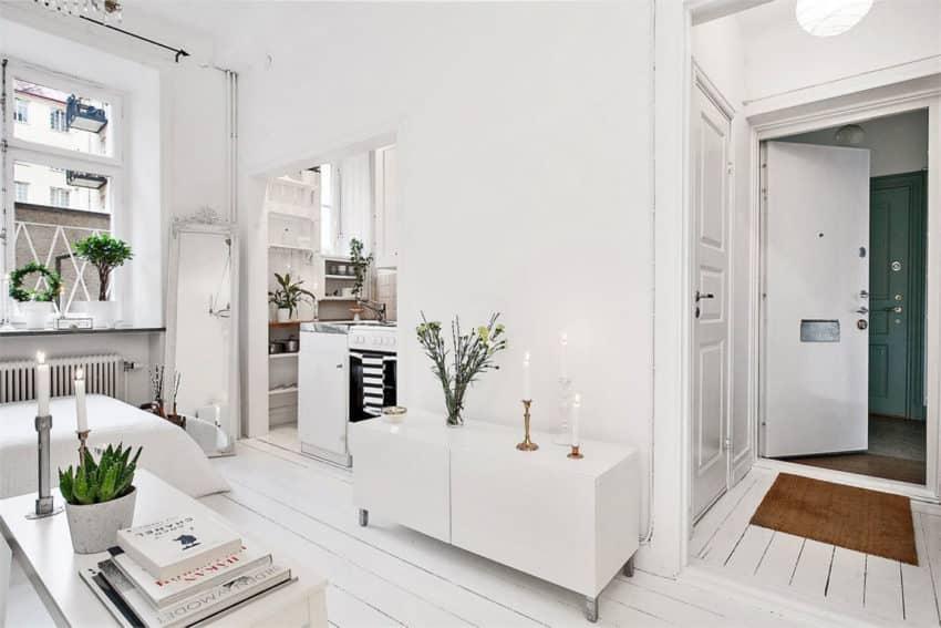 parquet blanc 12 int rieurs inspirants pour une d co 100 scandinave. Black Bedroom Furniture Sets. Home Design Ideas