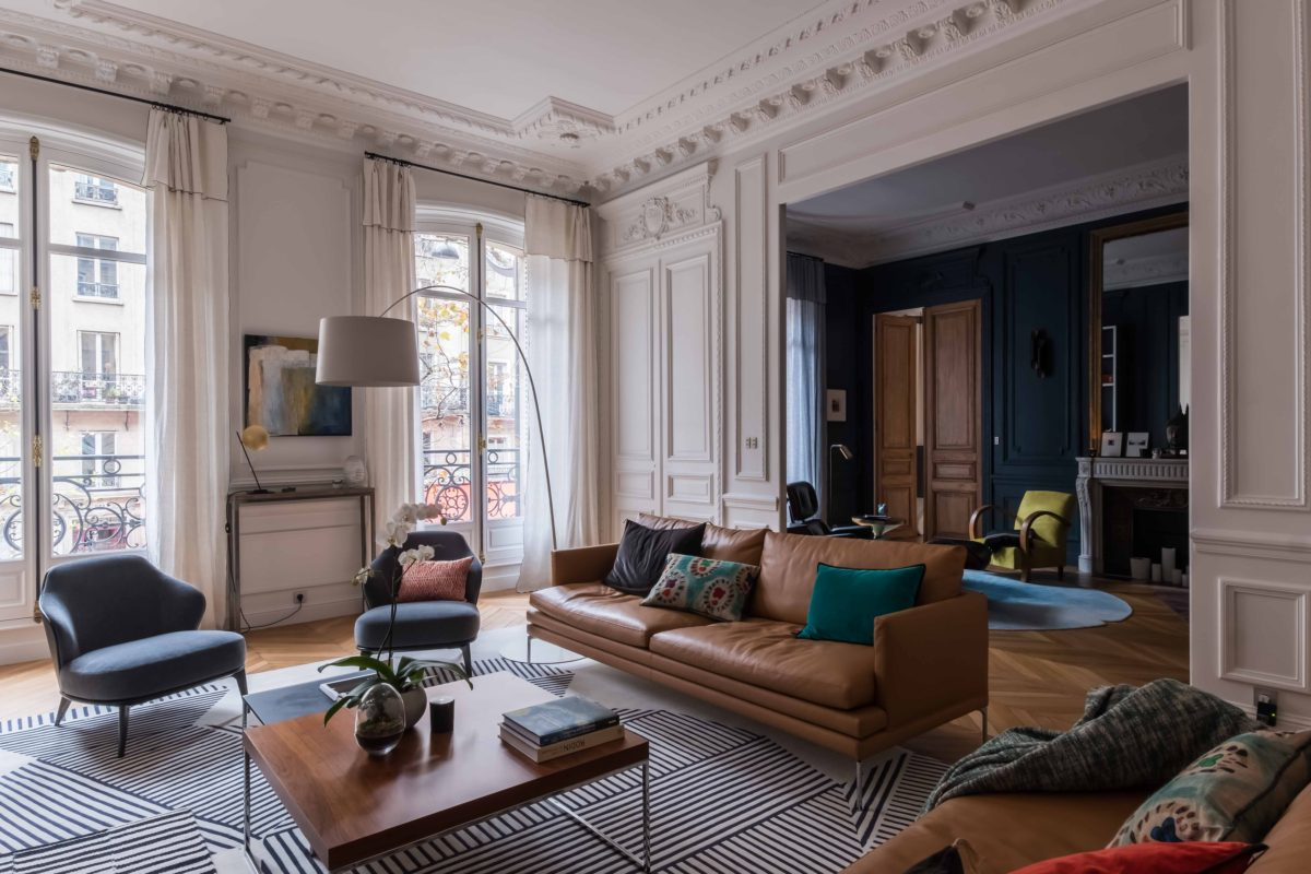 D coration appartement parisien comment am nager son for Decoration interieur haussmannien