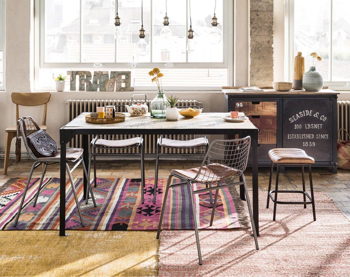 tapis maisons du monde lequel choisir pour son int rieur. Black Bedroom Furniture Sets. Home Design Ideas