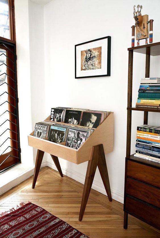 meuble platine vinyle vintage