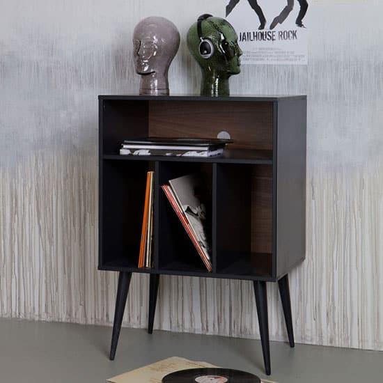 Meuble de rangement vinyles en bois