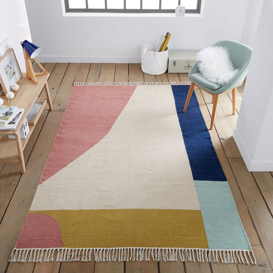Tapis scandinave multicolore