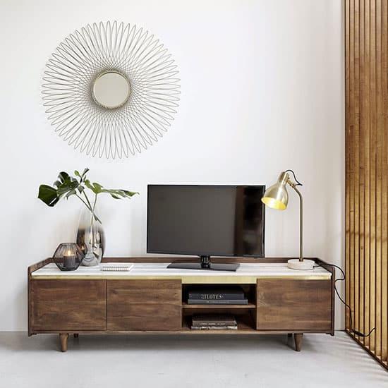 Meuble tv vintage marbre