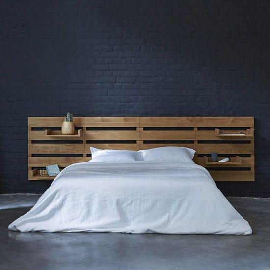 Tête de lit avec tablettes modulables