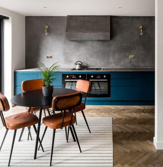 cuisine bleue les 10 nuances tendance adopter. Black Bedroom Furniture Sets. Home Design Ideas